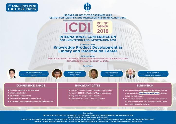 cfp kolordwijo ICDI 2018