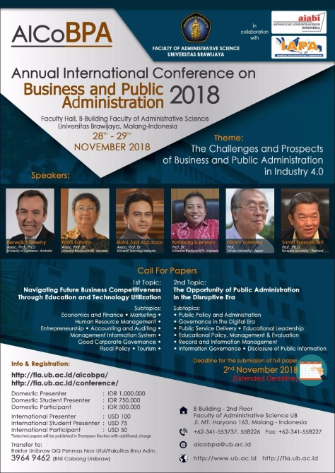 CFP Conference AICoBPA 2018
